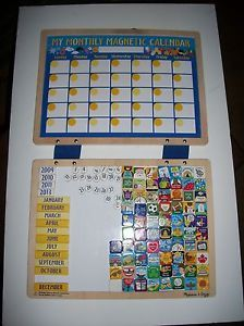Melissa Doug Magnetic Kids Behavior Responsibility Dry Erase Monthly Calendar