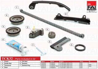 Timing Chain Kit for Nissan Almera MK II N16 1 5 03 00 ATCK32 1497