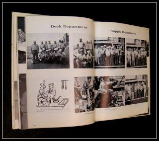 1965 USS Talladega APA 208 Cruise Book Vietnam Western Pacific