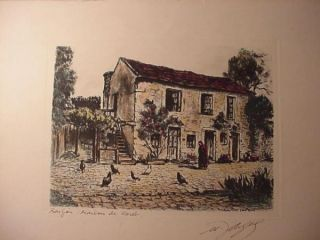 Original Etching by Maurice Jacque