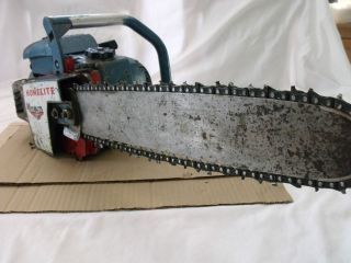 Vintage Homelite Super XL 67 Chainsaw Complete Whit Bar 16' for Part or Repair