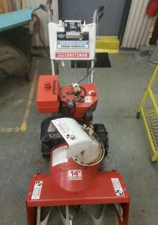 "Craftsman 7HP 24"" Path Snow Blower w Electric Start Runs"