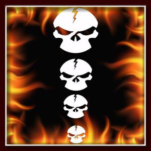 Skull 152 Airbrush Stencil Template Harley Paint