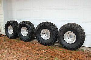 """39 5"""" Super Swamper TSL Boggers Hummer Tires"""