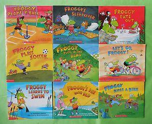 Froggy by Jonathan London Children's Paperback Books Set Lot 9 New