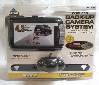 Peak Wireless Back Up Camera System PKCOBU4 4 3 inch Color LCD Monitor