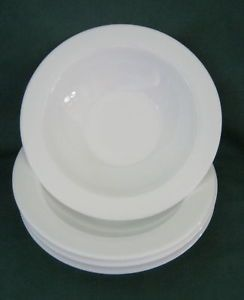 Arcopal 4 Small White Milk Glass Bowls France