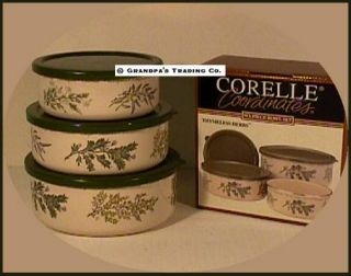 ... Corelle Thymeless Herbs 6 PC Nesting Bowls New Bowl Set ... & Corelle Thymeless Herbs Dinnerware Dish Set Plus Serving Bowl