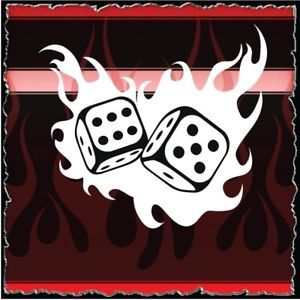 Flaming Dice Airbrush Stencil Template Harley Paint