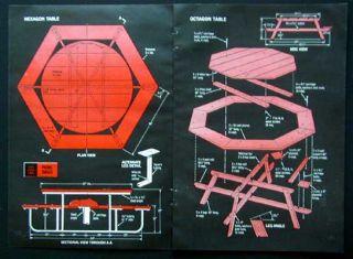 ... plans free octagon picnic table building plans free octagon picnic