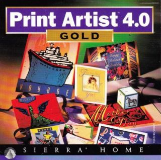 Print Artist 4 Gold Cool 3D Manual PC CD Greeting Cards Graphics Design Tool