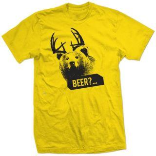 Beer Bear Deer Sunny Antlers Always Funny Mac Shirt