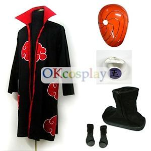 Uchiha Madara Cosplay Costume Robe Mask Shoes Ring for Halloween