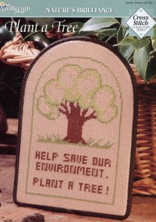 Plant A Tree Save Environment Cross Stitch Pattern New 30 Days to Shop Pay