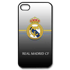 Real Madrid Logo iPhone 5 5S Black Plastic Hard Case 02185