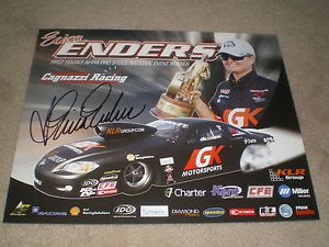 "Signed 2013 Erica Enders ""GK Motorsports"" NHRA Pro Stock Drag Racing Postcard"