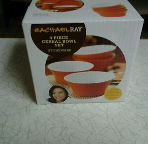 Rachael Ray Stoneware 4 Piece Cereal Bowl Set