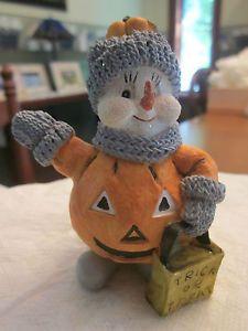 Retired Snow Buddies Halloween Collectible Snowman Figurine