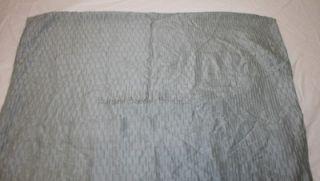 1 Calvin Klein Mercury Flower Euro Pillow Sham Solid Aqua Green Blue Pucker Silk