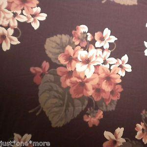 Ralph Lauren 4pc Floral Bouquet Queen Comforter Set New Plum Brown Hydrangea