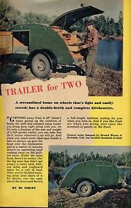 40's Streetrod Teardrop camper Trailer Plans