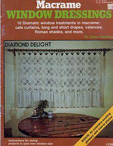 macrame book macrame window dressing cafe curtains drapes va