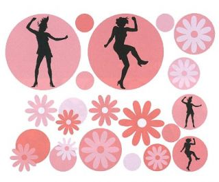 Girl Flower Power Daisy Dancer Circles Wallpaper Mural