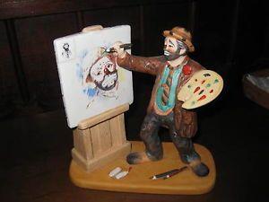 Retired Original Emmett Kelly Clown Figurine