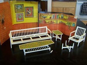 Barbie doll house living room furniture pet animal for Rooms to go 1960