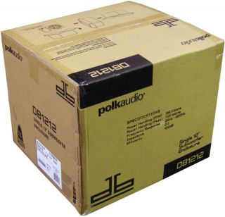 "Polk Audio DB1212 12"" Ported Subwoofer Enclosure Sub"