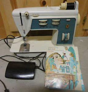 Singer Touch Sew Deluxe Zig Zag Sewing Machine Model 756 1970
