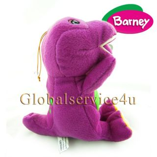 """Barney Plush Doll with I Love Song Music by Fisher Price 8"""" Large Stuffed Toy US"""