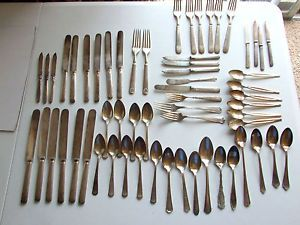 Silverplate Flatware Lot 1881 1847 Wm Rogers Son Bros Reed Barton Estate