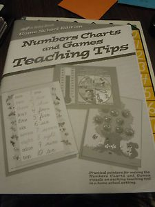 Abeka Homeschool Edition Numbers Charts and Games Teaching Tips K K4 and K5