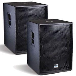 "2 Alto TSSUB18 Powered DJ PA Subwoofers 2400W 18"" Truesonic Active Subs 2TSSUB18"