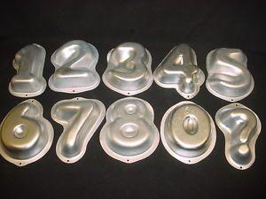 Wilton Number Set Cake Pan 1 2 3 4 5 6 7 8 0 Metal Mold Baking Tin Chocolate