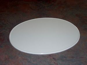 Number Plate Vintage Moto Cross 9x11 Oval MX White New