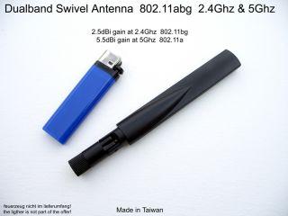 Dualband Omni Antenna 802 11n abg 2 5dBi 2 4GHz 5 5dBi 5GHz 802 11AC WiFi WLAN
