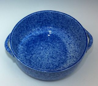 Coche Stoneware 2 Qt Covered Casserole No Lid Blue Speckled Euro Gres Portugal