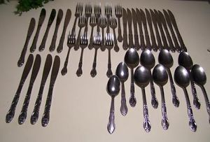 F B Rogers Stainless Steel Cutlery Flatware 43 Pieces