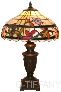 "Tiffany Style Stained Glass Table Lamp ""Chloe"""