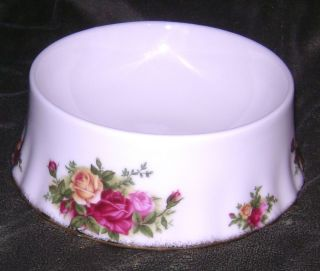 Royal Albert Bone China Old Country Roses Pet Dog Cat Food Water Bowl 5 5""