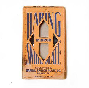 Vintage Antique Mirror Outlet Plate Cover Art Deco E913 in Original Box