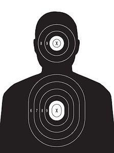 Police Pistol Rifle Human Torso Silhouette Shooting Targets 14x20 54 Qty