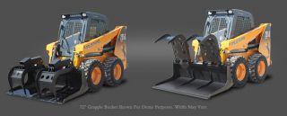 Brand New 76 inch HD Skid Steer Demolition Grapple Bucket Bobcat Case Cat Gehl