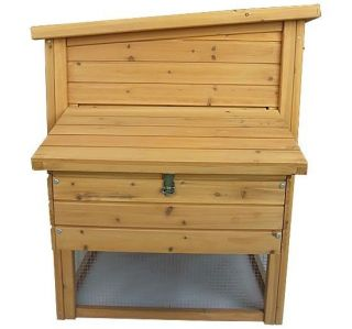 Pawhut Outdoor Wooden Hen House Poultry Egg Box Enclosure Chicken Coop w Run