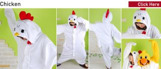 Sweet Holic KIGURUMI Chick Chicken Duck Cheetah Devil Deer Elephant Costumes