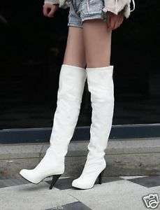 Sexy Women's High Heel Fashion Over The Knee Zipthigh Boot Shoes A75