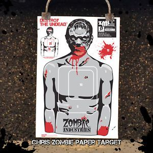 10 LARGE18X24 Assorted Zombie Paper Silhouette Shooting Target