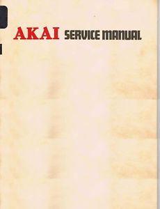 Akai AA M3 Service Manual